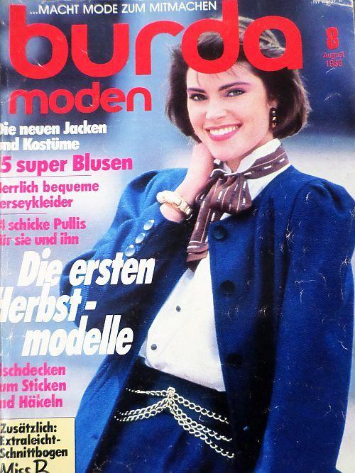 Burda 8/1986 RETRO v němčině