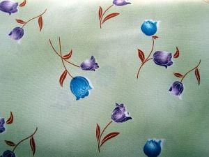 Eliška - zelená šatovka vzor květ