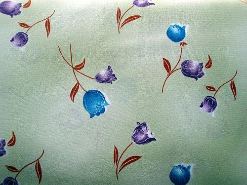 Zelená šatovka vzor květ