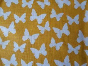Motýli - žlutobílá bavlna