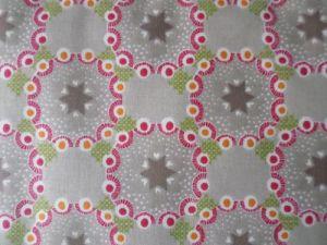 Pippa - šedobéžová vzorovaná bavlna