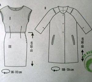 Střih BURDA - Dámské šaty a kabát