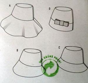 Střih BURDA - Dámský klobouček