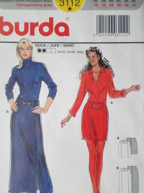 Střih BURDA - elegantní sukně vel. 36-46