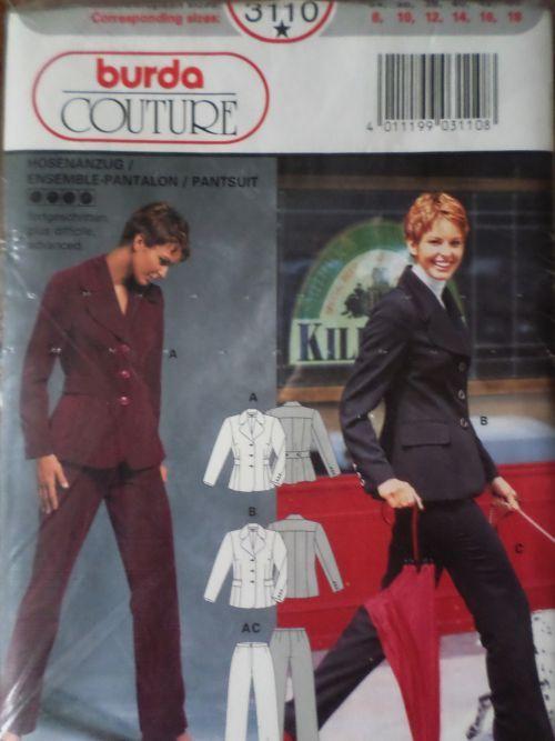 Střih BURDA - Kalhotový kostým vel. 34-44
