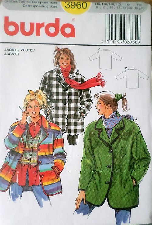 Střih BURDA - Sako/kabátek dětský