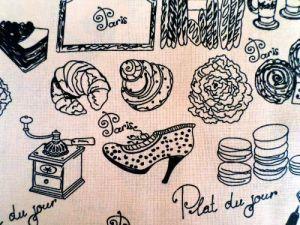 Věci - oranžovobéžová bavlna