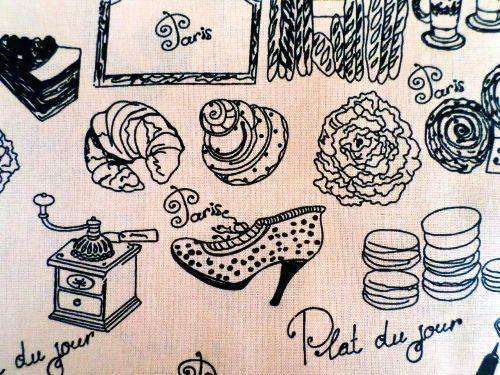 Věci - oranovobéžová bavlna Česká výroba