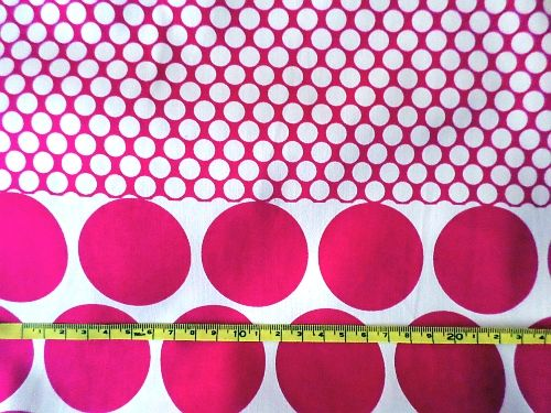 Adriana - bílorůžová bavlna s puntíky