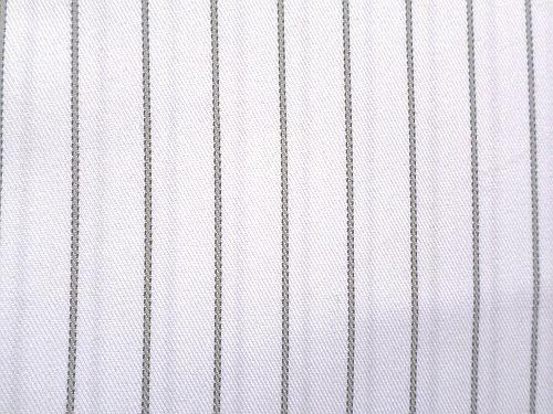 Alexandra - bílá bavlněná látka s proužkem