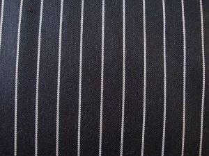 Alexandra - černá bavlněná látka s proužkem