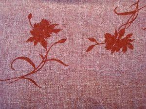 Alice - červená lněná látka vzor