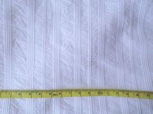 Barunka - bílá bavlna s proužkem