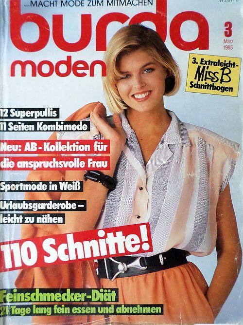 Burda 3/1985 RETRO v němčině