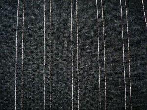 Darina - černá lněná látka s proužky