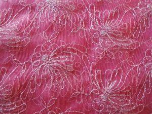Fatima - růžový vyšívaný tyl
