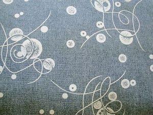 Hana - šedá látka s bílým vzorem