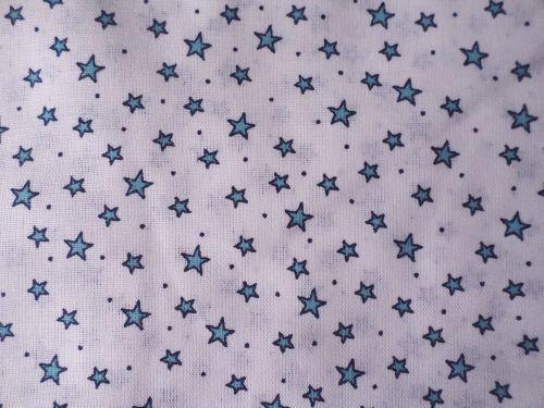 Hvězdička - bílomodrá bavlna