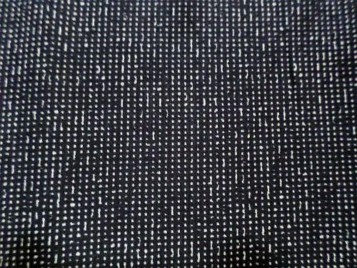 Janka - černobéžová šatová látka