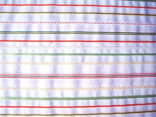 Karolína - bílá halenkovka s barevnými proužky