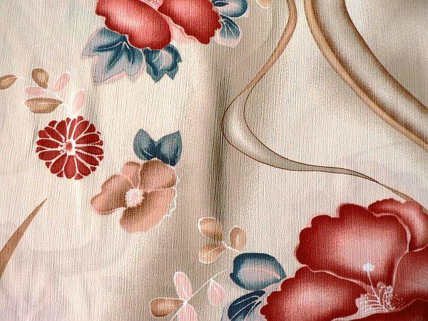 Květka - béžová květy