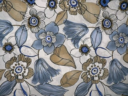 Květuška - modrá šatovka vzor