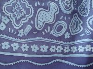 Laura - modrá šatovka s jednostrannou bordurou