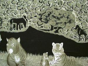 Šatovka - zelená se zvířecí bordurou