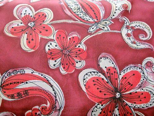 Sára - vínová červený květ