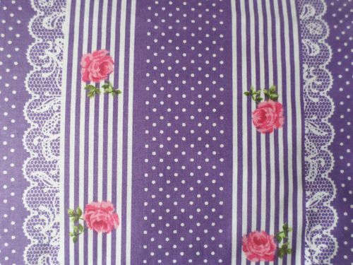 Šárka - fialovorůžová bavlna v pruhu