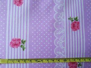Šárka - růžovofialovobílá bavlna v pruhu