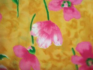 Šarlota - oranžovorůžová látka květ