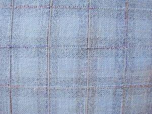 Šíla - sv. modrá kostýmová látka s kárem