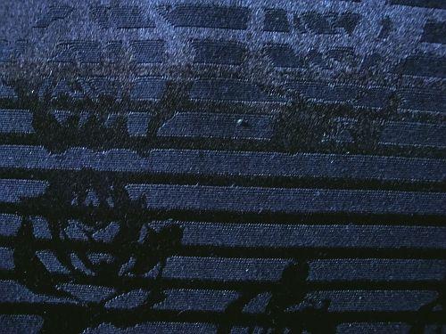 Siréna - černá látka mat/lesk