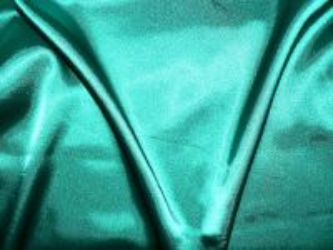 Světlana - zelený elastický satén