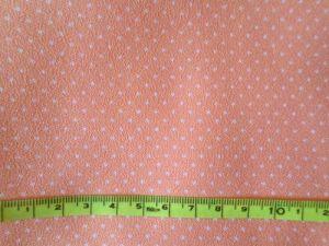 Arabka - oranžovobílá látka s puntíčkem 145x145cm - kus