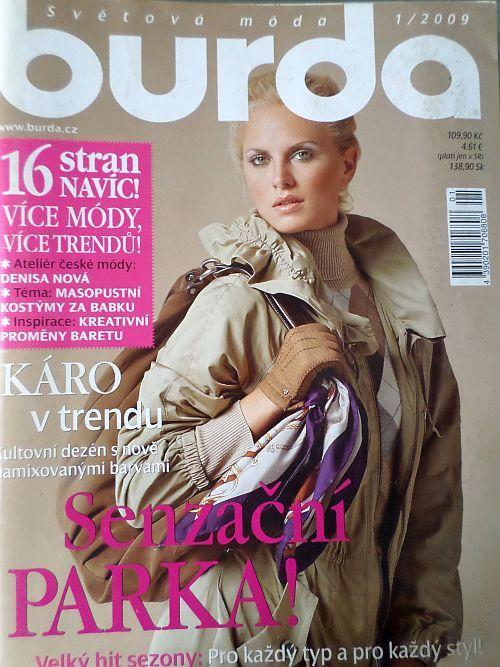 časopis Burda 1/2009 v češtině