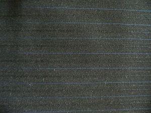 Kolín - černá kostýmová látka s modrým proužkem