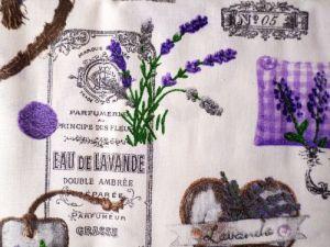 Lavenda - bílofialovošedá bavlna s levandulí