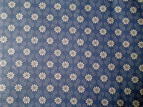 Murinda - modrobílá bavlna s kvítky