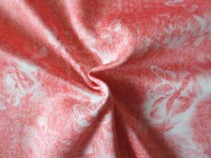 Ofélie - lososová šatovka se vzorem