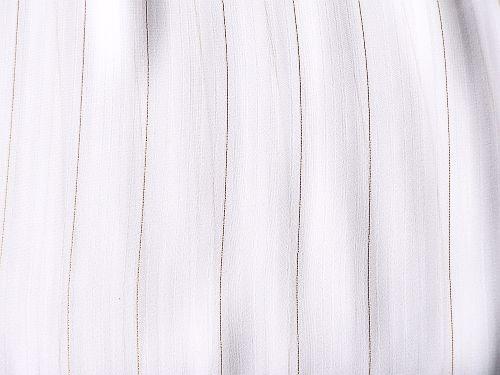 Popelka - bílý proužkovaný šifon se zlatou nitkou