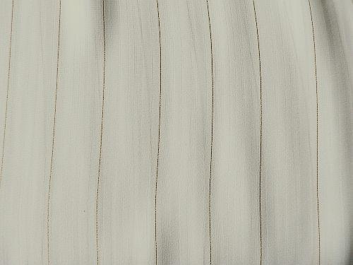 Popelka - zelenobéžový proužkový šifon se zlatou nitkou