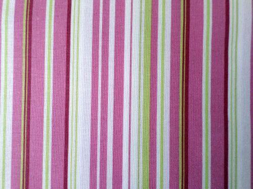 Promina - bílorůžovozelený proužek bavlna