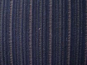 Vanesa - tm. modrá kostýmová látka s proužkem