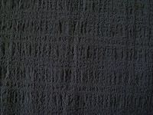 Vilemína - černá krešovaná látka