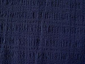Vilemína - tm. modrá krešovaná látka