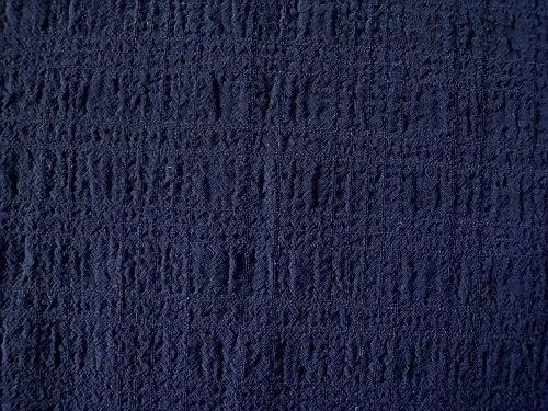 Vilemína - tm.modrá krešovaná halenková látka