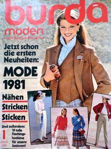 Burda 1/1981 v němčině