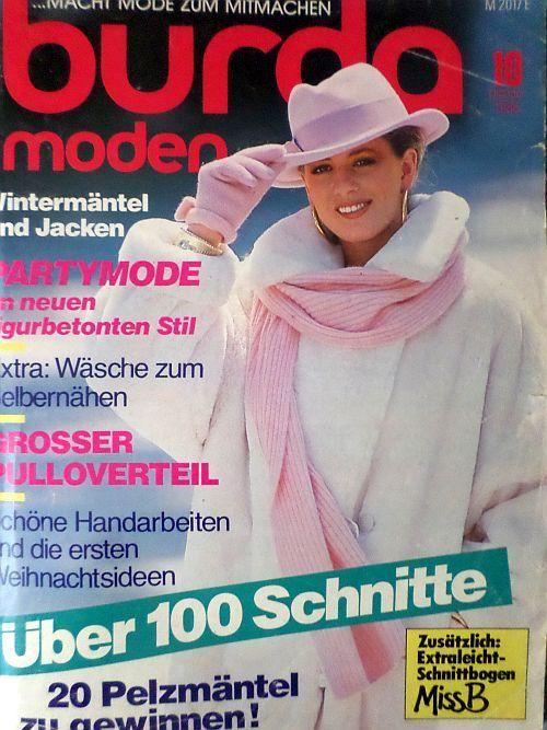 Burda 10/1986 v němčině RETRO